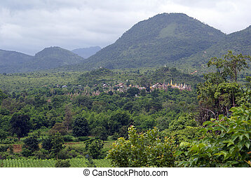 Buddhist monastery on the hill - Forest asnd buddhist temple...