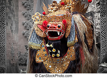Barong - character in the mythology of Bali, Indonesia -...