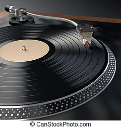 Record Player - Unique design created for this image....