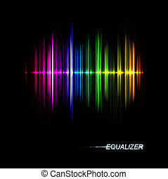 Music equalizer - Abstract music equalizer Eps 10