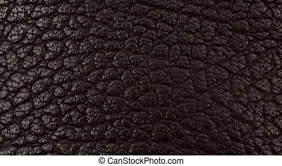 Black leather texture closeup detailed background.