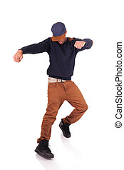 africano, americano, dançarino, quadril, pulo,...