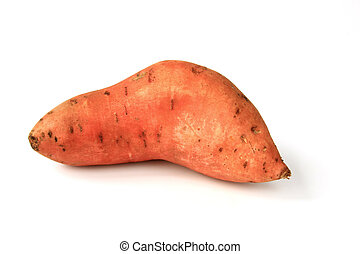 Sweet potato or batata Ipomoea batatas isolated in front of...