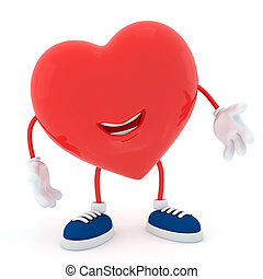Speak up - Smily heart on white background - 3D render