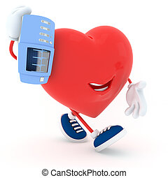 Carry - Piggyback electrocardiogram device's heart - 3D...