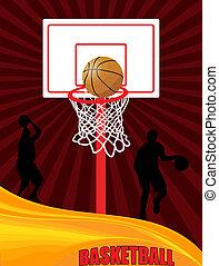 cartel, baloncesto, publicidad