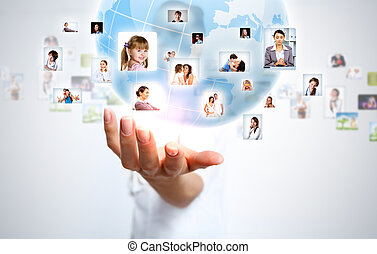 Planet as symbol of social networking - Image of our planet...