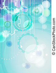 Vector technical abstract background - vertical format