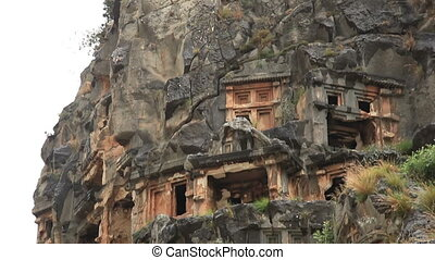 Lycian Rock Tomb in ancient Myra Turkey