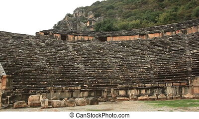 Roman amphitheater in Myra - Roman amphitheater in ancient...