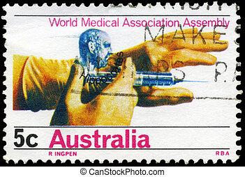 AUSTRALIA - CIRCA 1968 Hippocrates and Hands - AUSTRALIA -...