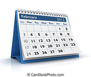 2 月, 2013, カレンダー
