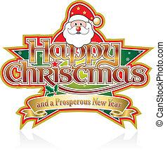 クリスマス,  santa, 幸せ