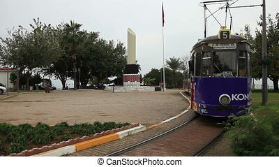 and tram - Antalya city traffic and tram