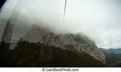 Gondola lift - Using gondola lift to get on a mountain