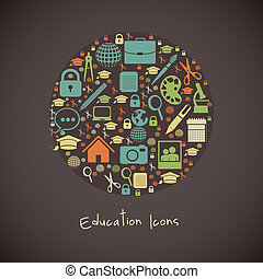 school icons - Illustration of useful icons and icons of...