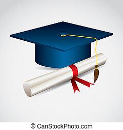 University icons - Illustration of icons of graduates....