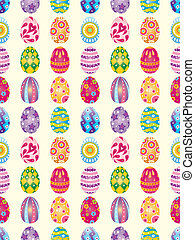 seamless Easter Egg pattern,cartoon vector illustration