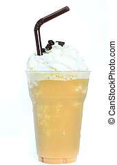 Blended iced coffee whipped cream.