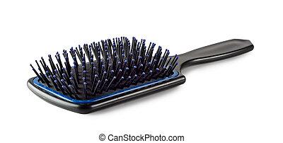 plástico, cabelo, escova
