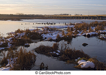 Minnesota Valley Wildlife Refuge and Bridge