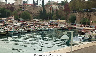 Antalya - The old marina of  Antalya in  Turkey