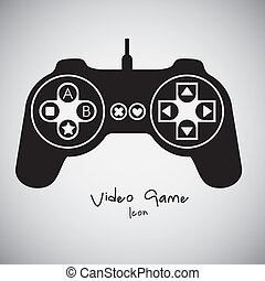 Videogames Silhouettes - illustration of game controls,...