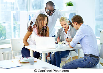 Work planning - Portrait of confident partners planning work...
