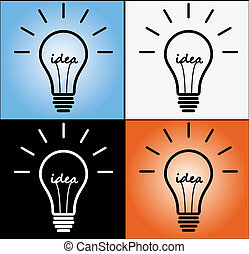 idea concept in different backgroun - concept of idea in 4...