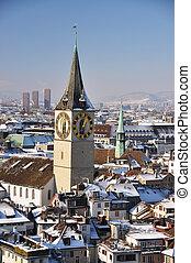 vista, Inverno, Zurique