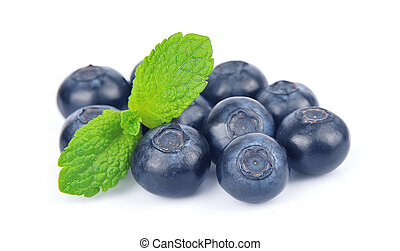 Blueberries with mint