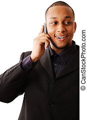 Happy Phonecall - This is an image of businessman using his...