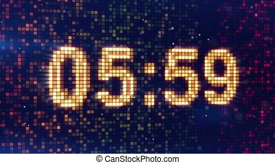 digital alarm clock display animation