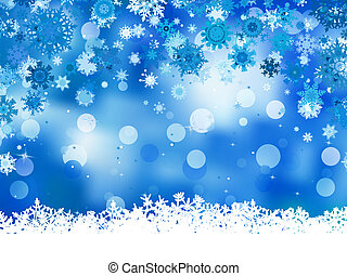 Elegant christmas blue with snowflakes. EPS 8 - Elegant...
