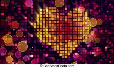 heart shape on digital screen loop - heart shape on digital...