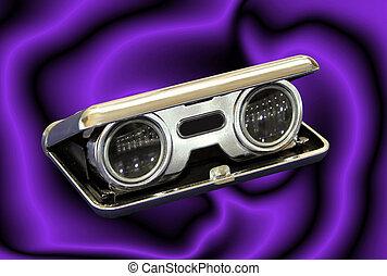 Vintage Opera Binoculars - Isolated Vintage Opera Binoculars...