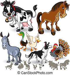 Farm Animals Collection Set 02 - An Illustration of Farm...