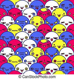 Cute cartoon pattern, vector Eps8  illustration