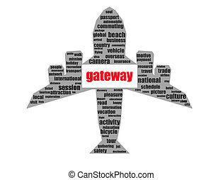 gateway - Rendered artwork with white background
