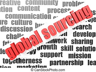 business work of global sourcing - Rendered artwork with...