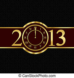 New year 2013 concept with clock - New year 2013 with clock...