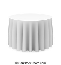 Round tablecloth - Vector illustration