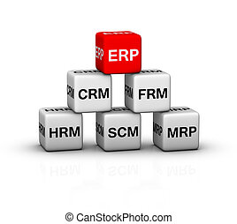 ERP System illustration - ERP Enterprise Resource Planning...