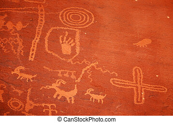Petroglyphs in Valley Of Fire park