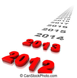 New Year 2013 - New year 2013 and the years ahead. Part of a...