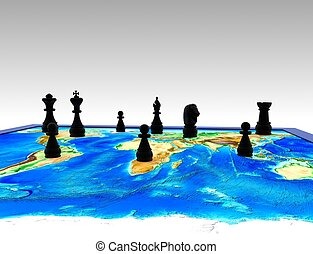 Chess on the world - 3D