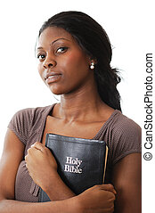 Woman of Faith - This is an image of a woman holding a bible...