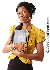 Woman of Faith - This is an image of a woman holding a...