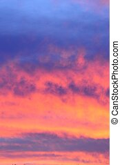 Pink and orange sunrise - Orange and pink clouds at sunrise...