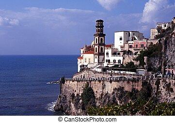 View of town, Atrani, Amalfi Coast. - General view of town...
